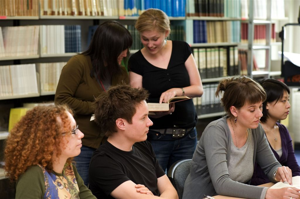 Students learning at the University Library