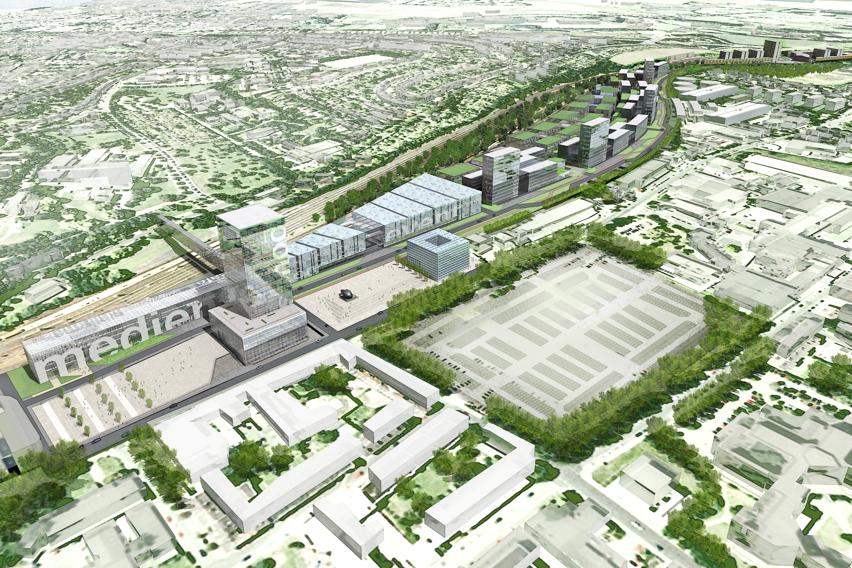 Visual draft of the future RWTH Campus West