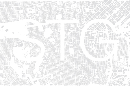 figure ground plan with letters STG
